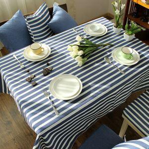 テーブルクロス テーブルカバー 撥水加工 リネン 地中海風 140*180cm 6人掛け用 TC013
