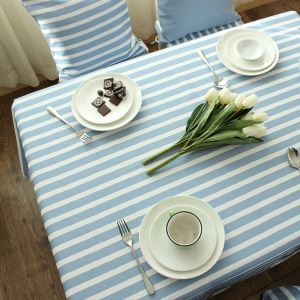 テーブルクロス テーブルカバー 撥水加工 リネン 地中海風 145*220cm 6人掛け用 TC014