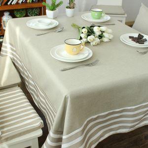 テーブルクロス テーブルカバー 撥水加工 リネン 地中海風 145*220cm 6人掛け用 TC016