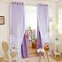 極細繊維カーテン オーダーカーテン 無地柄 現代風 1級遮光カーテン シアーカーテン付き 菫色05(1枚)
