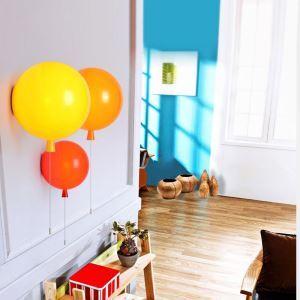 壁掛けライト ウォールランプ 照明器具 子供屋照明 風船型 プルスイッチ 1灯