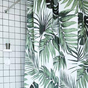 シャワーカーテン バスカーテン 防水防カビ 浴室 ダクロンカーテン 葉柄 DP016