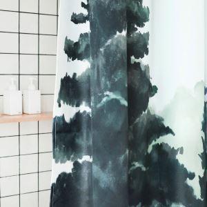 シャワーカーテン バスカーテン 防水防カビ 浴室 ダクロンカーテン 森 DP018