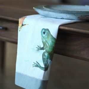 飾りナプキン ランチョンマット テーブルマット プレースマット ティータオル カエル柄 子供用 ADP004