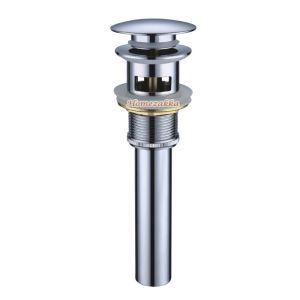 横穴付き排水金具 排水ドレイン マッシュルーム・プッシュ式 ドレンユニット32mm クロム LK003
