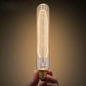 エジソン電球 ハロゲン電球 T10 口金E26-40W ビンテージ 12.5cm