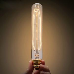 エジソン電球 ハロゲン電球 口金E26 T125 40W ビンテージ 12.5cm