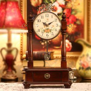 旧式の置き時計 振り子時計 静音時計 アンティーク