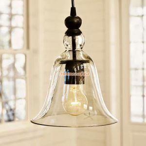 ペンダントライト 天井照明 照明器具 ダイニング照明 店舗照明 ガラス 風鈴型 1灯 20cm