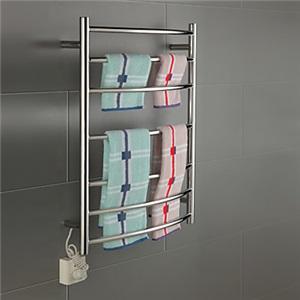 壁掛けタオルウォーマー 室内ヒーター タオルハンガー+簡易乾燥 ステンレス鋼 70W