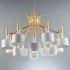 シャンデリア 天井照明 照明器具 ダイニング照明 店舗照明 北欧風 12灯 黒/白