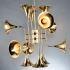 シャンデリア 天井照明 照明器具 ダイニング照明 喇叭型照明 12灯