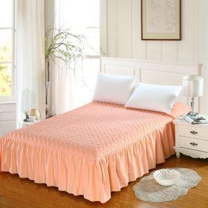 ベッドスカート シーツ 寝具カバー シンプル ピンク キルティング 180*200cm B5001