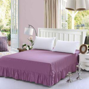 ベッドスカート シーツ 寝具カバー シンプル 綿 二藍色 150*200cm B6006