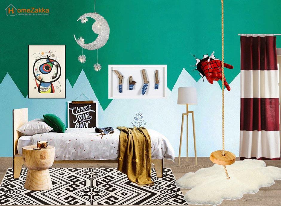 カラフルな子供部屋アイデアカラフル壁