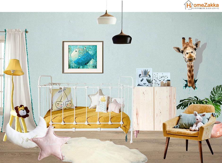 小粋なジェンダー中立的な幼児の部屋