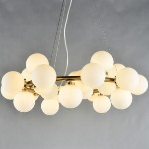 ペンダントライト 天井照明 照明器具 ダイニング照明 ガラス照明 北欧風 25灯