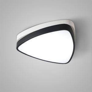 LEDシーリングライト 照明器具 天井照明 リビング用 寝室用 おしゃれ 三角型 黒白 LED対応