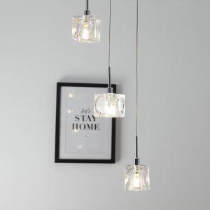 LEDペンダントライト 照明器具 リビング照明 店舗照明 吹き抜け照明 クリスタル オシャレ 3灯 LED対応