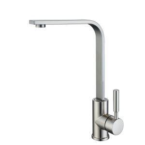 キッチン蛇口 台所蛇口 冷熱混合水栓 シンク用水栓 ヘアライン HY461