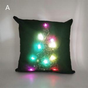 LEDクッションカバー クリスマスシリーズ 抱き枕カバー 枕カバー Merry Christmas ギフト DP32483