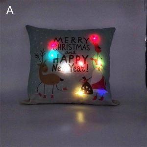 LEDクッションカバー クリスマスシリーズ 抱き枕カバー 枕カバー Merry Christmas ギフト DP32484