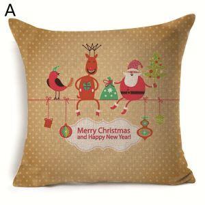 クッションカバー クリスマスシリーズ 抱き枕カバー 枕カバー Merry Christmas ギフト DP33545