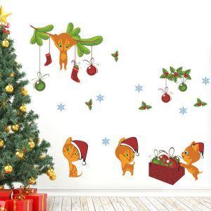 ウォールステッカー 転写式ステッカー PVCシール シート 剥がせる 平面DIY クリスマスシリーズ WS06743