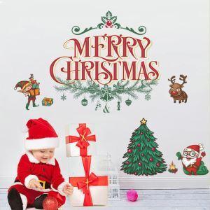 ウォールステッカー 転写式ステッカー PVCシール シート 剥がせる 平面DIY クリスマスシリーズ WS06748