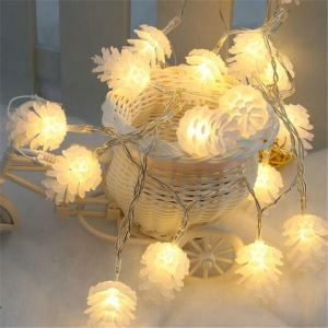 LEDイルミネーションライト LEDストリングライト 松かさ型照明 防水 40灯 パーティー 祝日飾り
