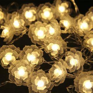 LEDイルミネーションライト LEDストリングライト ツバキ型照明 防水 電池式 パーティー 祝日飾り
