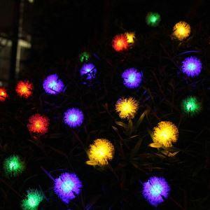 LEDイルミネーションライト LEDストリングライト ソーラーライト フグボール型照明 防水 パーティー 祝日飾り