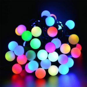 LEDイルミネーションライト LEDストリングライト ソーラーライト 球型照明 防水 パーティー 祝日飾り