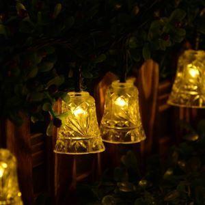 LEDイルミネーションライト LEDストリングライト ソーラーライト 鈴型照明 防水 パーティー 祝日飾り