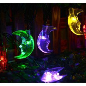 LEDイルミネーションライト LEDストリングライト ソーラーライト 月型照明 防水 パーティー 祝日飾り