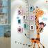 壁掛けフォトフレーム 写真用額縁 インテリアフレーム フォトデコレーション 木製 8枚セット 複数枚 キリン身長計付