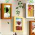 壁掛けフォトフレーム 写真用額縁 インテリアフレーム フォトデコレーション 木製 8枚セット 複数枚 田園風