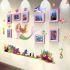 壁掛けフォトフレーム 写真用額縁 インテリアフレーム フォトデコレーション 木製 8枚セット 複数枚 マーメイド