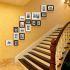 壁掛けフォトフレーム 写真用額縁 インテリアフレーム フォトデコレーション 木製 17枚セット 複数枚
