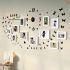 壁掛けフォトフレーム 写真用額縁 インテリアフレーム フォトデコレーション 木製 11枚セット 複数枚 時計付