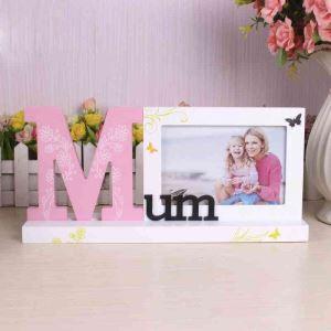 写真立て フォトフレーム 写真用額縁 インテリアフレーム フォトデコレーション 木製 オシャレ 1枚 Mum