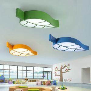 LEDシーリングライト 照明器具 天井照明 リビング 居間 子供屋 オシャレ 葉型 4色 LED対応