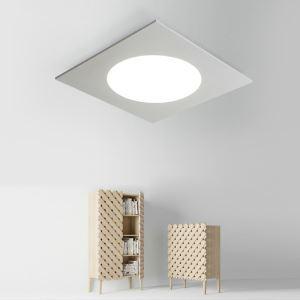 LEDシーリングライト 照明器具 天井照明 リビング 居間 子供屋 オシャレ 正方形 黒白 LED対応