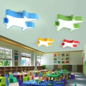 LEDシーリングライト 照明器具 天井照明 リビング 居間 子供屋 オシャレ 飛行機型 5色 LED対応