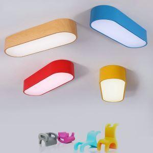 LEDシーリングライト 照明器具 天井照明 リビング 居間 子供屋 オシャレ 楕円形 4色 LED対応