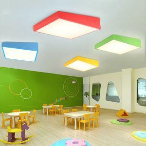 LEDシーリングライト 照明器具 天井照明 リビング 居間 子供屋 オシャレ 平行四辺形 4色 LED対応