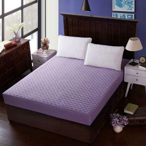 ボックスシーツ ベッドシーツ マットレスカバー ベッド用品 単品 四季 紫色 180*200cm B4003