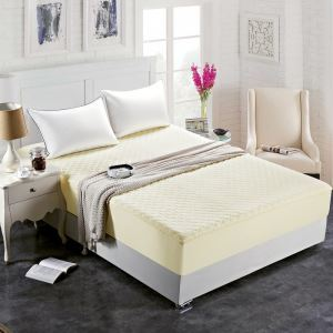 ボックスシーツ ベッドシーツ マットレスカバー ベッド用品 単品 四季 黄色 180*200cm B4006