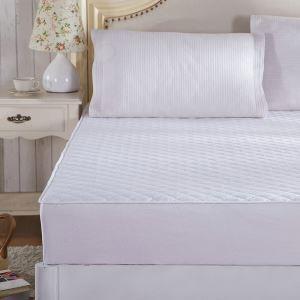 ボックスシーツ ベッドシーツ マットレスカバー ベッド用品 単品 四季 ホワイト 200*220cm B4007