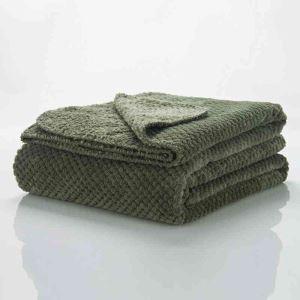 毛布 ブランケット ベッドシーツ ソファー毛布 オリーブドラブ色 オシャレ 180*200cm